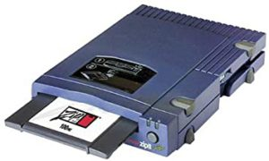 old style zip disk and zip drive